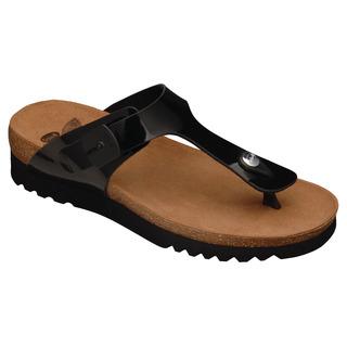 Scholl BOA VISTA UP černé - zdravotní pantofle
