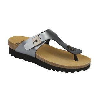 Scholl BOA VISTA UP cínová šeď zdravotní pantofle