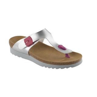 Scholl BOA VISTA UP stříbrné/růžové zdravotní pantofle