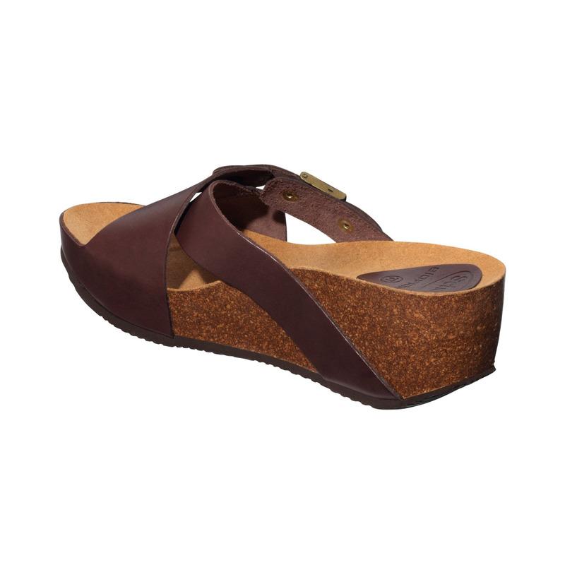 Scholl ELON 2.0 tmavě hnědé zdravotní pantofle