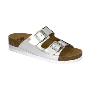 Scholl GLAM SS 2 stříbrné zdravotní pantofle