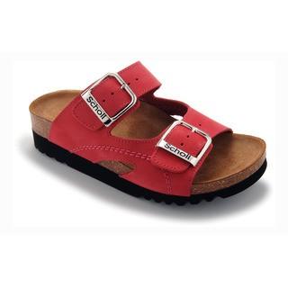 Scholl MOLDAVA WEDGE - červené zdravotní pantofle