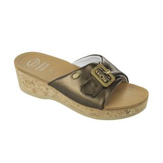 Scholl WAPPY bronzové - dámské zdravotní pantofle