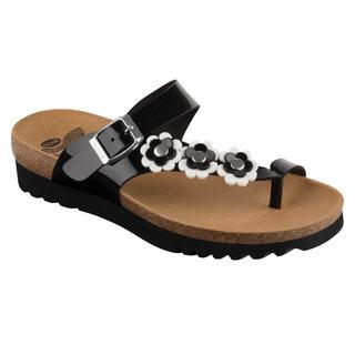 Scholl SIBEL PLUS černé zdravotní pantofle