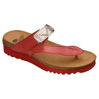 Scholl YOTA - červené zdravotní pantofle