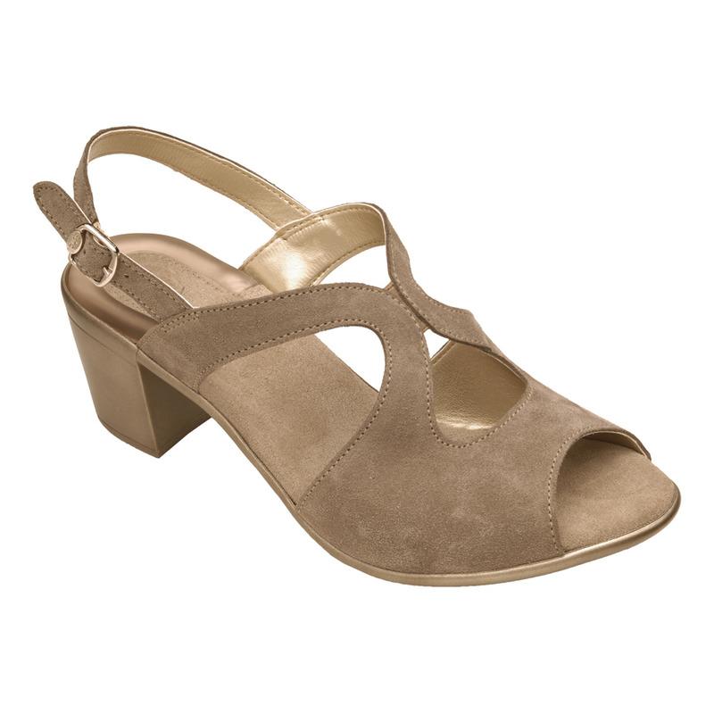 Scholl JOCELYN béžovošedé semišové sandále