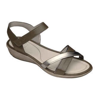 Scholl LORI - tmavě šedé zdravotní sandály