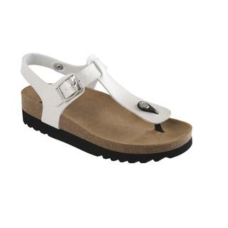 Scholl BOA VISTA AD perleťově bílé zdravotní sandále