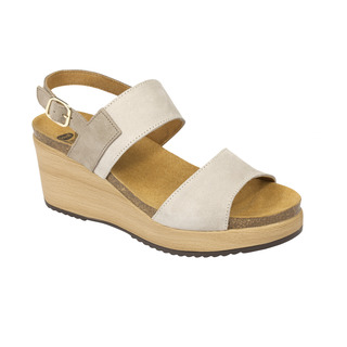 Scholl ELARA světle šedé zdravotní sandály