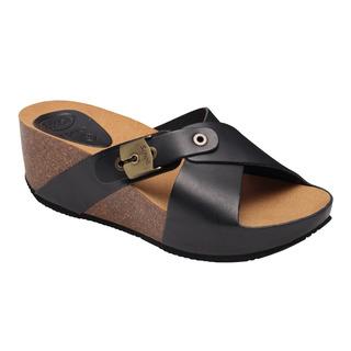 Scholl ELON 2.0 černé zdravotní pantofle
