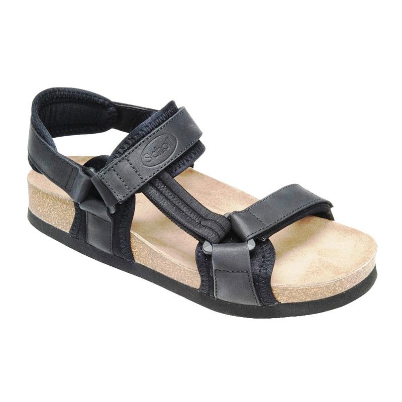 Scholl NEW TRACK černé - zdravotní sandály