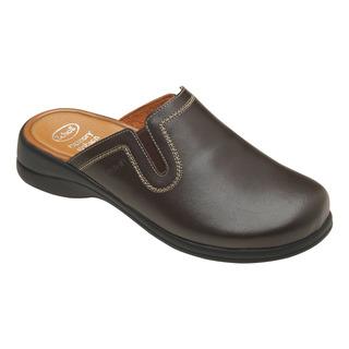Scholl TOFFEE tmavě hnědá domácí obuv
