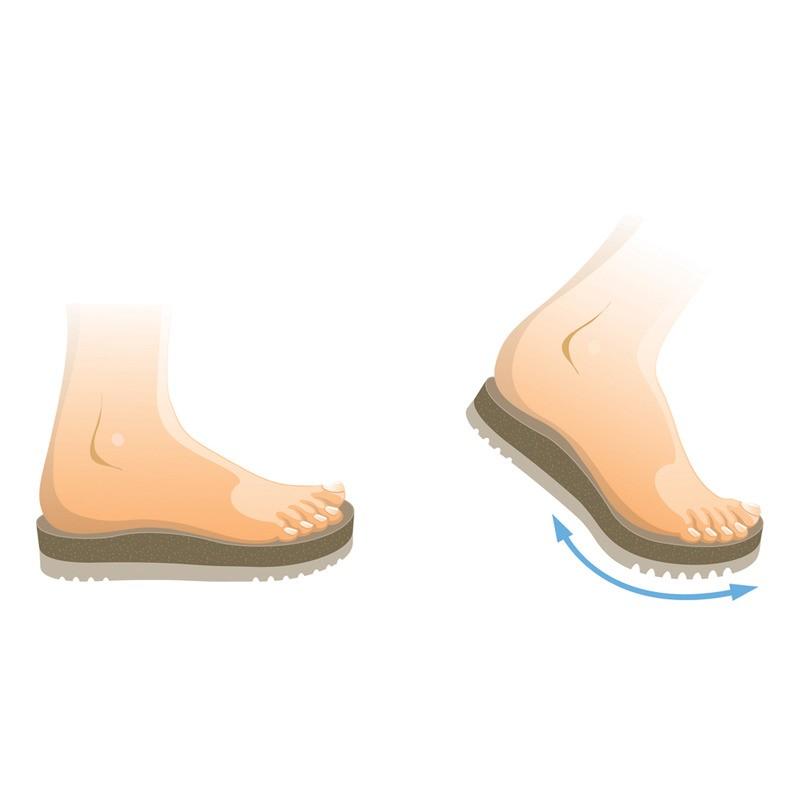 Scholl AIR BAG - světle hnědé zdravotní pantofle