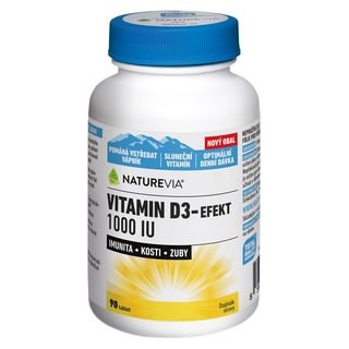 Swiss NatureVia Vitamin D3 - efekt 1000 IU (90 tablet)