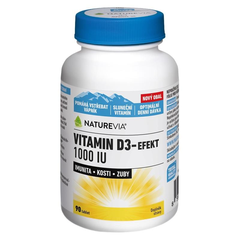 Swiss NatureVia Vitamin D3 - efekt 1000 IU (90 tablet)