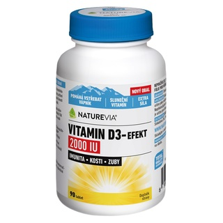 Swiss NatureVia Vitamin D3 - efekt 2000 IU (90 tablet)