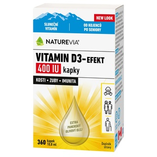Swiss NatureVia Vitamin D3 - efekt 400 IU 10,8 ml (kapky)