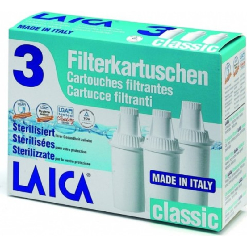 Laica Filter Classic 3 ks - náhradní vodní filtr Laica Classic.