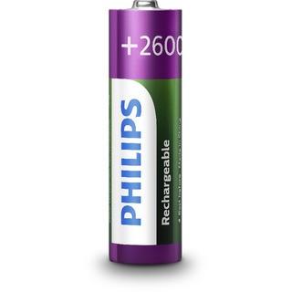 Philips Rechargeables nabíjecí baterie AA NiMH 4ks 2600 mAh (R6B4B260/10)