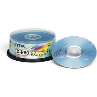 TDK TDK CD-R80 25Cakebox