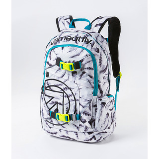 meatfly Basejumper 3 - N - Feather White Print - bílý batoh 20l