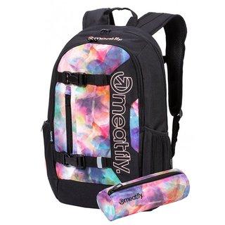 meatfly Basejumper 6 G - Universe Color, Black - černý batoh 22l