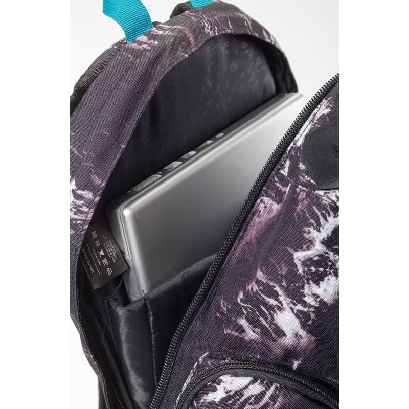 meatfly Wanderer 3 C - Waves Print - černý batoh 28l