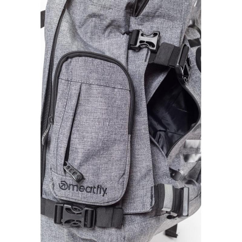 meatfly Wanderer 3 A - Heather Gray - šedý batoh 28l