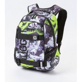 NUGGET Bradley E - Territory Lime Print - šedý batoh 24l
