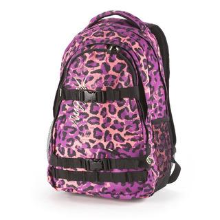 NUGGET Connor C - Leopard Peach - fialovorůžový batoh 26l