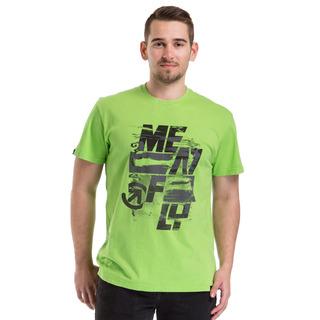meatfly Burnout T-Shirt E - GREEN FLASH - černé pánské tričko s krátkým rukávem