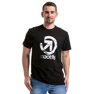 meatfly Creator - B - černé pánské tričko s krátkým rukávem