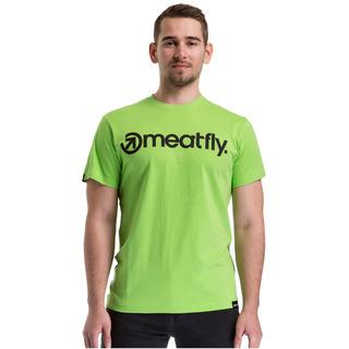 meatfly Logo T-Shirt green flash - E - zelené pánské tričko s krátkým rukávem