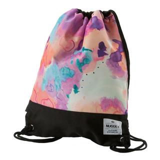 NUGGET Latte 2 Benched Bag - Opacity White Print - školní sáček na přezůvky