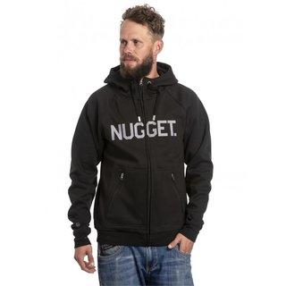 NUGGET Ironsight - Black - A - černá pánská mikina s kapucí zapínání na zip