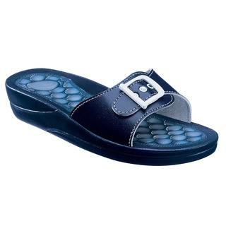 Scholl FITNESS PEBBLE - modré zdravotní pantofle
